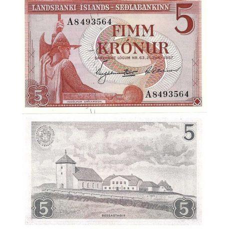 Islande - Pk N° 37 - Billet de 5 Kronur