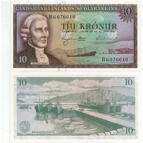 Islande - Pk N° 38 - Billet de 10 Kronur
