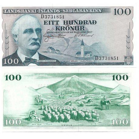 Billets banque Islande Pk N° 40 - 100 Kronur