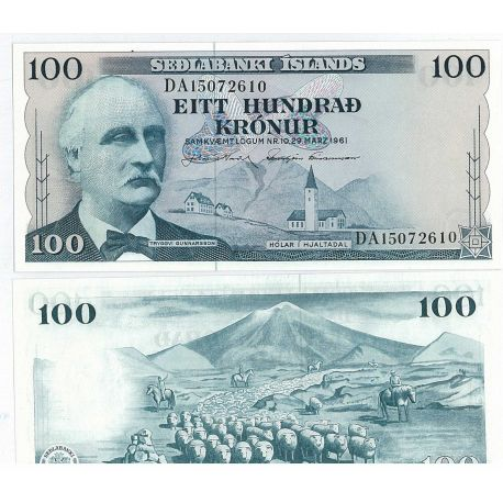 Billets de collection Billet de collection Islande Pk N° 44 - 100 Kronur Billets d'Islande 11,00 €