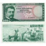 Banknote Island Pk Nr. 45 - 500 Kronur
