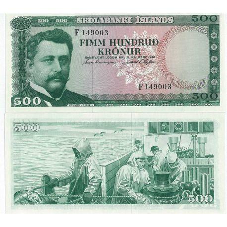 Islande - Pk N° 45 - Billet de 500 Kronur