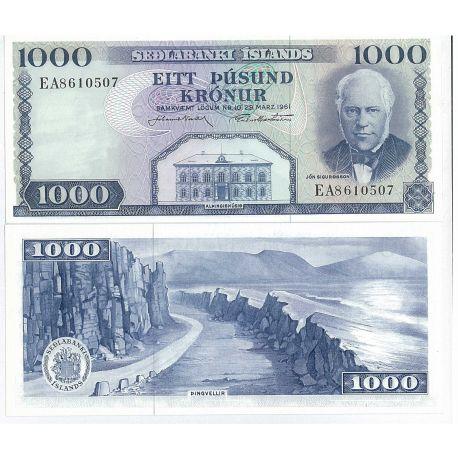 Islande - Pk N° 46 - Billet de 1000 Kronur