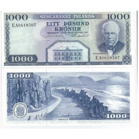 Billets de collection Billet de collection Islande Pk N° 46 - 1000 Kronur Billets d'Islande 28,00 €