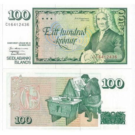 Billets de banque Islande Pk N° 50 - 100 Kronur