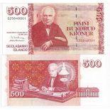 Billets collection Islande Pk N° 59 - 500 Kronur
