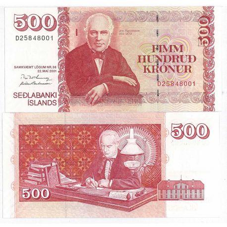 Islande - Pk N° 59 - Billet de 500 Kronur
