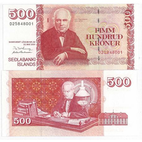 Billets de collection Billets collection Islande Pk N° 59 - 500 Kronur Billets d'Islande 17,00 €
