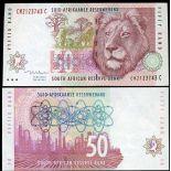 Sudafrica - Pk N° 125 - Banconote di 50 Rand