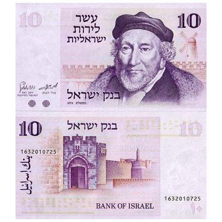 Billets de collection Billets banque Israel Pk N° 39 - 10 Sheqalim Billets d'Israel 4,00 €
