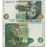 Banknote South Africa Pick number 123 - 10 Rand 1992