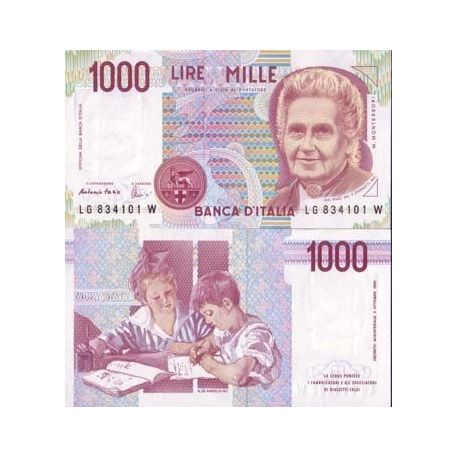 Billets de collection Billet de banque Italie Pk N° 114 - 1000 Lire Billets d'Italie 3,50 €
