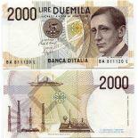 Billets banque Italie Pk N° 115 - 2000 Lire