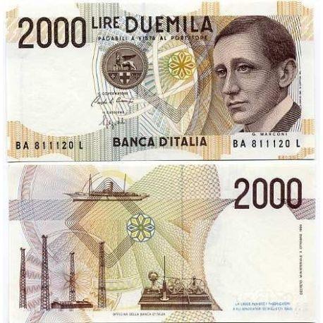 Billets de collection Billets banque Italie Pk N° 115 - 2000 Lire Billets d'Italie 7,00 €