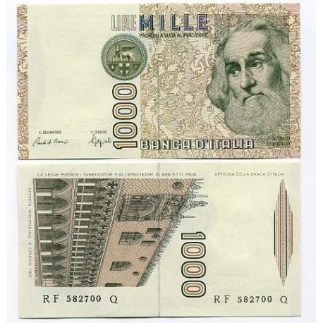 Billet de collection Italie Pk N° 109 - 1000 Lire