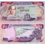 Schone Banknote Jamaika Pick Nummer 73 - 50 Dollar