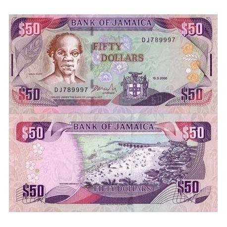 Jamaique - Pk N° 73 - Billet de 50 Dollars