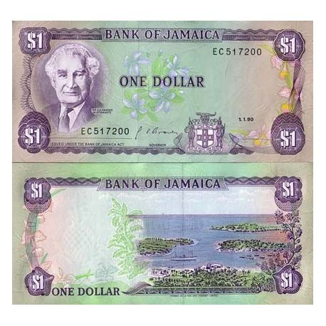 Billets de collection Billet de collection Jamaique Pk N° 68 - 1 Dollar Billets de Jamaique 4,50 €