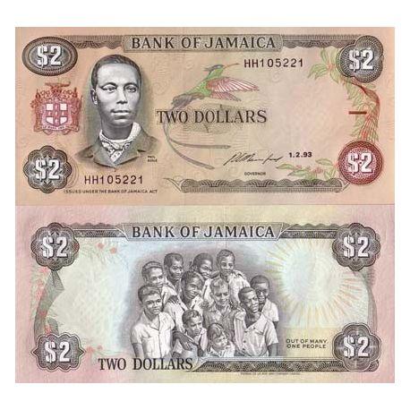 Jamaique - Pk N° 69 - Billet de 2 Dollars
