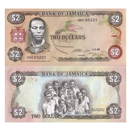 Billets de collection Billet de collection Jamaique Pk N° 69 - 2 Dollars Billets de Jamaique 6,00 €