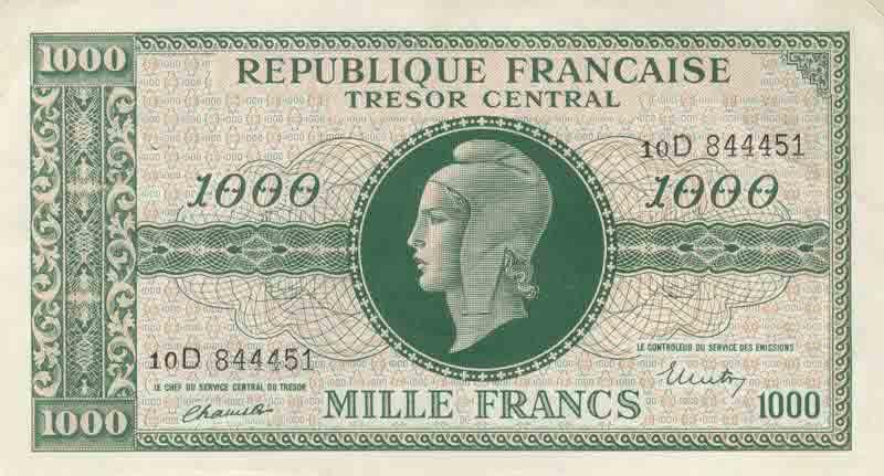 Billet de banque 1000 Francs Dulac