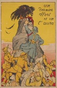 Carte postale anciennes de guerre satirique