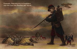 carte postale satirique de guerre