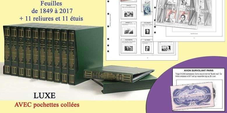 To arrange all the stamps of France of 1849 to 2017 in 11 volumes