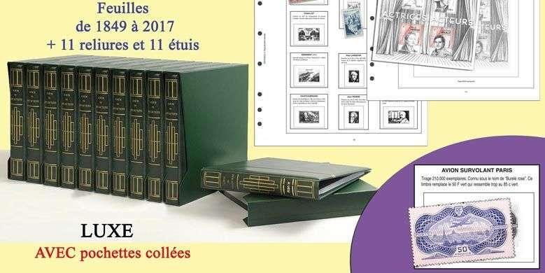 Para guardar todos los sellos de Francia de 1849 a 2017 en 11 volúmenes