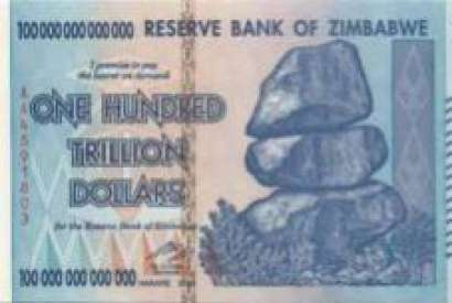 100 trillion of dollars of Zimbabwe a banknote of madness!!!
